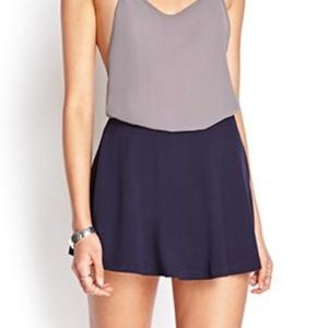 XS Navy Skirt/Shorts. Forever 21. NWT